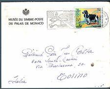 MONACO - 1971 - Esposizione canina internazionale isolato su lettera (mr)