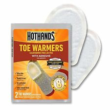 HotHands 2 Toe Warmers Value Pack with Adhesive Last up to 8 Hours Lot of 2