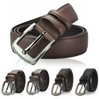 Men's Casual Genuine Leather Dress Belt Pin Buckle Waist Strap Belts Waistband