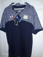 University of Notre Dame Fighting Irish NCAA polo Golf Shirt Under Armour NEW S