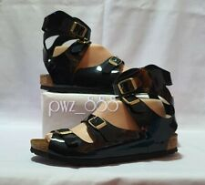 BIRKENSTOCK Patent Sandals Size 37