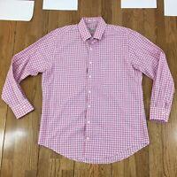 PETER MILLAR Shirt Men's Size Large Long Sleeve Plaid Button Front Crown Finish