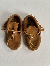 Minnetonka Mocasins Girls Fringe Softsole Boots Size 10