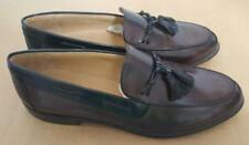 New Johnston & Murphy Cellini Sz 13 M Brown Black Tassel Boat Shoe Loafers Italy