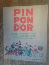 Pin Pon d'or comptines formulettes rondes berceuses ritournelles