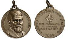 Medaglia Partito Repubblicano Italiano PRI 1959 Arcangelo Ghisleri #MD3487