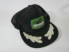 Remington Country truckers mesh back black cap hat vintage retro