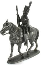 Figure Napoleonic War Austerlitz 1805 metal Elite soldier with horse 1/32 Atlas