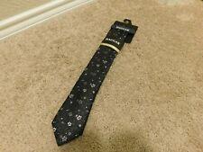 Brand new Haggar Premium Neckwear Black floral men's tie