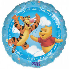"""WINNIE THE POOH PARTY SUPPLIES 18"""" JUMP FOR JOY IT'S A BOY! ANAGRAM FOIL BALLOON"""