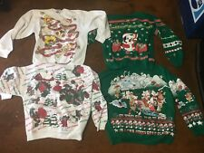 (15) Vintage Ugly Christmas Sweaters Very Cool L@@K!!!
