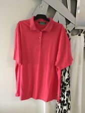 BLACK PEPPER Australia Coral Peach Pink Short Sleeve Stretch Polo Shirt 20 PC