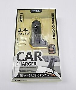 Car Charger For iPhone and samsung 3.4A Fast Charge 18W PD Type C USB Adapter
