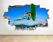 Wall Stickers Wind Surfing Cool Boys Smashed Decal Poster 3D Art Vinyl Room H211