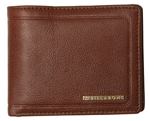 Billabong Scope RFID Java Leather Wallet 2 In 1 ID Wallet. RRP $59.99. NWT.