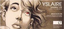 Rare et superbe carte Galerie Glénat : YSLAIRE - SAMBRE