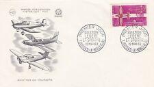 France 1962 1341 FDC Aviation de tourisme oblitération Toussus-le-Noble