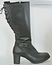 Martino Leather Women's Boots Size 11 Wide Adjustable Calf Made in Canada