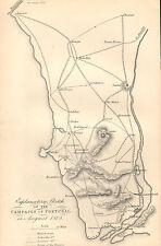 GUERRA D'INDIPENDENZA SPAGNOLA Mappa/piano di battaglia BATTAGLIA ~ Campagna in Portogallo percorso Britannico