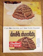 1965 Sealtest Ice Cream Ad  Double Chocolate