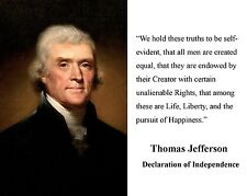 Thomas Jefferson Declaration of Independence Quote 8 x 10 Photo Picture #d1