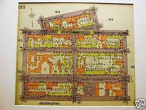 Brooklyn Map 1929 BUSHWICK PACIFIC FULTON ALBANY Matted