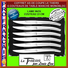 COFFRET LE THIERS PAR LOUIS CAU AS DE COUPE 6 COUTEAUX INOX 23CM MANCHE MONOBLOC
