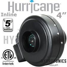 """Hurricane Inline Fan 4"""" - 171 CFM In-line In line Fan (Blower Duct Fan) 4 Inch"""