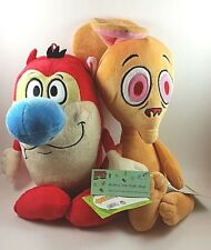 "Nickelodeon Ren and Stimpy 15"" Plush Toy Set New with Tags Stuffed Animal Dolls"