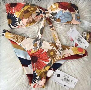 New . Ripcurl Summer Lovin Revo Cheeky Set , Bikini Top And Pant Size small