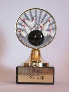 Bowling-Pokal mit Wunschgravur (093)