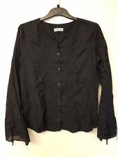 Ladies black long sleeved blouse top by Cherokee size 14