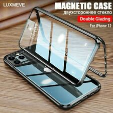 For iPhone 12 Pro Max 11 12 Mini 360 Magnetic Adsorption Double Sided Glass Case