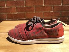 TOMS red  geometric  Fabric women  lace up Shoes Size US 9.5 EU 41