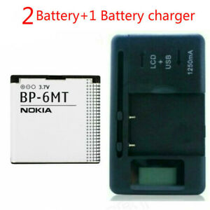 New Battery For Nokia BP-6MT E51 N81 N82 6350 6750+Battery charger