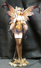 """Moth Fairy with Crystal Statue Figurine H10.75"""""""