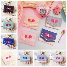 Sale Sailor Moon Bow Knot Short Wallet Clutch Purse PU Leather Card Coin Bag