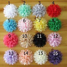 "16 PCS DIY Newborn Headband Lot Chiffon Head Flower Baby Girl Hair Accessory 4"""