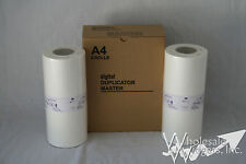 2 Master Rolls Compatible With Riso S-4250 For Risograph RZ220 RZ230 EZ RZ A4