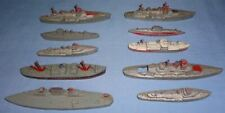 Vintage Tootsie Toy Wwii Aircraft Carrier Battleship Destroyer Cruiser Submarine