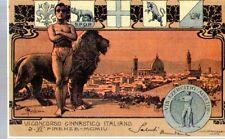 Riproduzione Cartolina Commemorative 1904 Concorso Ginnastico Italiano