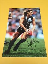 PETER DAICOS COLLINGWOOD FOOTBALL CLUB  HAND SIGNED HUGE 18 X 12 INCH PHOTO