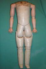 """Antique wax cloth doll body, 40 cm / 15.75"""""""