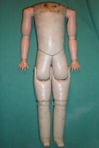 """Antique wax cloth doll body, 40 cm / 15.75"""", doll making & repair"""