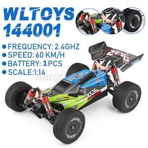 Wltoys XKS 144001 2.4G 1:14 RC 4WD 60km/h Speed Racing Monstertruck Grün