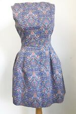 Ladies ZARA Blue Paisley Liberty Print Tulip Dress. Size Large. UK 12 14