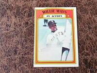 (1) 1972 TOPPS Baseball Willie Mays In Action #50 - San Francisco Giants Legend