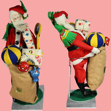 HTF! Vintage Klumpe Roldan Nistis Cloth Doll Santa Claus w Tag!