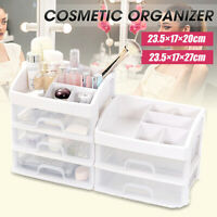 Clear Makeup Storage Box Cosmetic Organizer Table Drawer Holder Jewelry