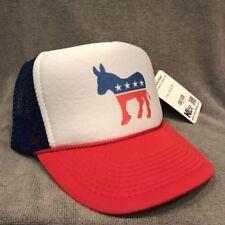 Democratic Party Donkey Trucker Hat Vintage Style  Snapback w Democrat Logo 2204